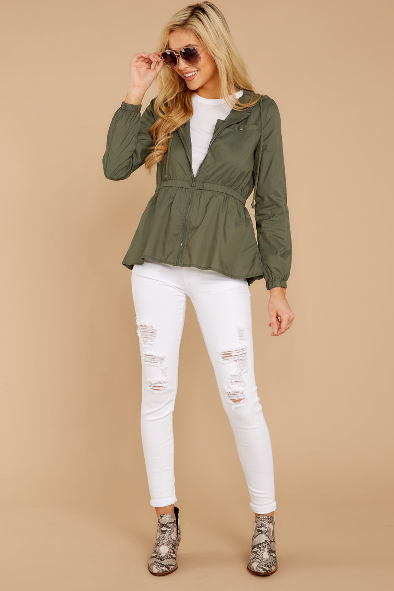 3 Dance In The Rain Heather Green Jacket at reddressboutique.com