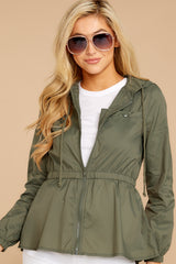 4 Dance In The Rain Heather Green Jacket at reddressboutique.com