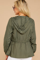 7 Dance In The Rain Heather Green Jacket at reddressboutique.com