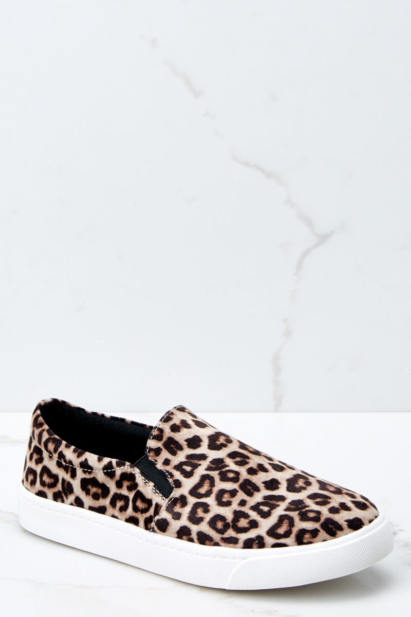 1 Follow The Beat Leopard Print Slip On Sneakers at reddressboutique.com