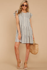 2 Swirl And Twirl Blue Stripe Dress at reddressboutique.com