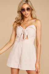 5 Direct Flight Beige And White Stripe Romper at reddressboutique.com