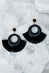 2 Another Time Another Place Black Earrings at reddressboutique.com