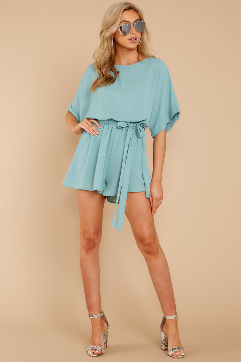 1 There's A Reason Dusted Jade Romper at reddressboutique.com