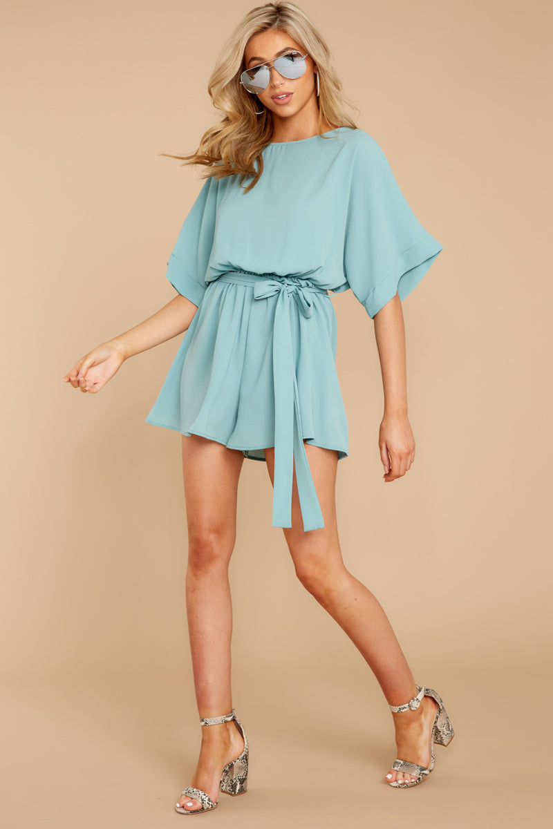 2 There's A Reason Dusted Jade Romper at reddressboutique.com