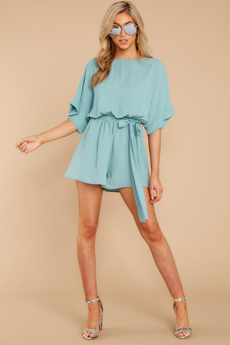 3 There's A Reason Dusted Jade Romper at reddressboutique.com