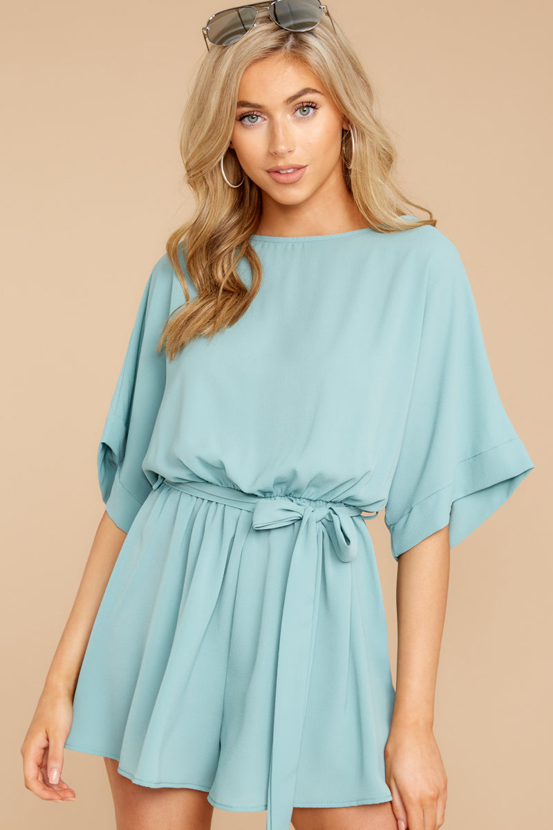 4 There's A Reason Dusted Jade Romper at reddressboutique.com