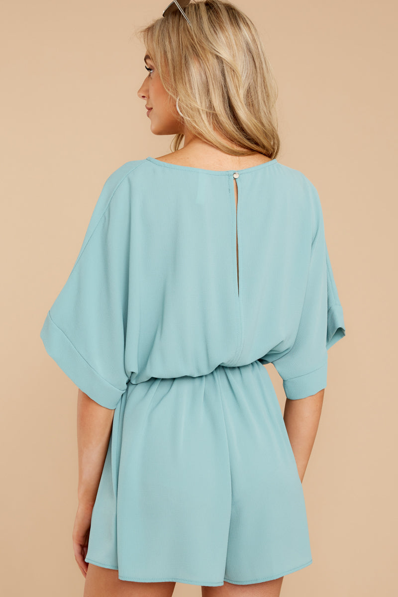 7 There's A Reason Dusted Jade Romper at reddressboutique.com