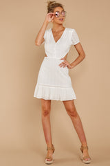 1 Keep Loving White Eyelet Dress at reddressboutique.com