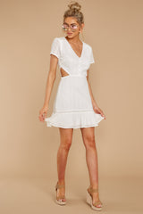 2 Keep Loving White Eyelet Dress at reddressboutique.com