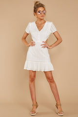 3 Keep Loving White Eyelet Dress at reddressboutique.com