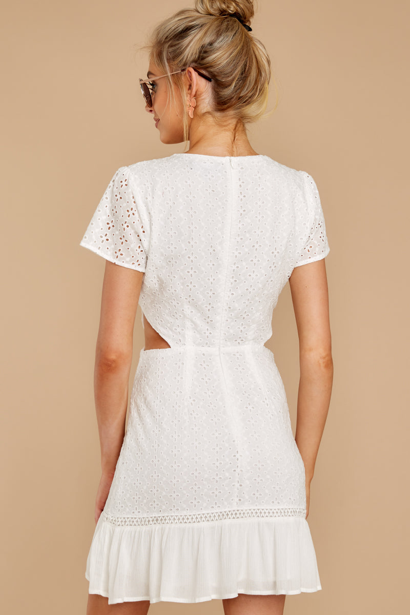 6 Keep Loving White Eyelet Dress at reddressboutique.com
