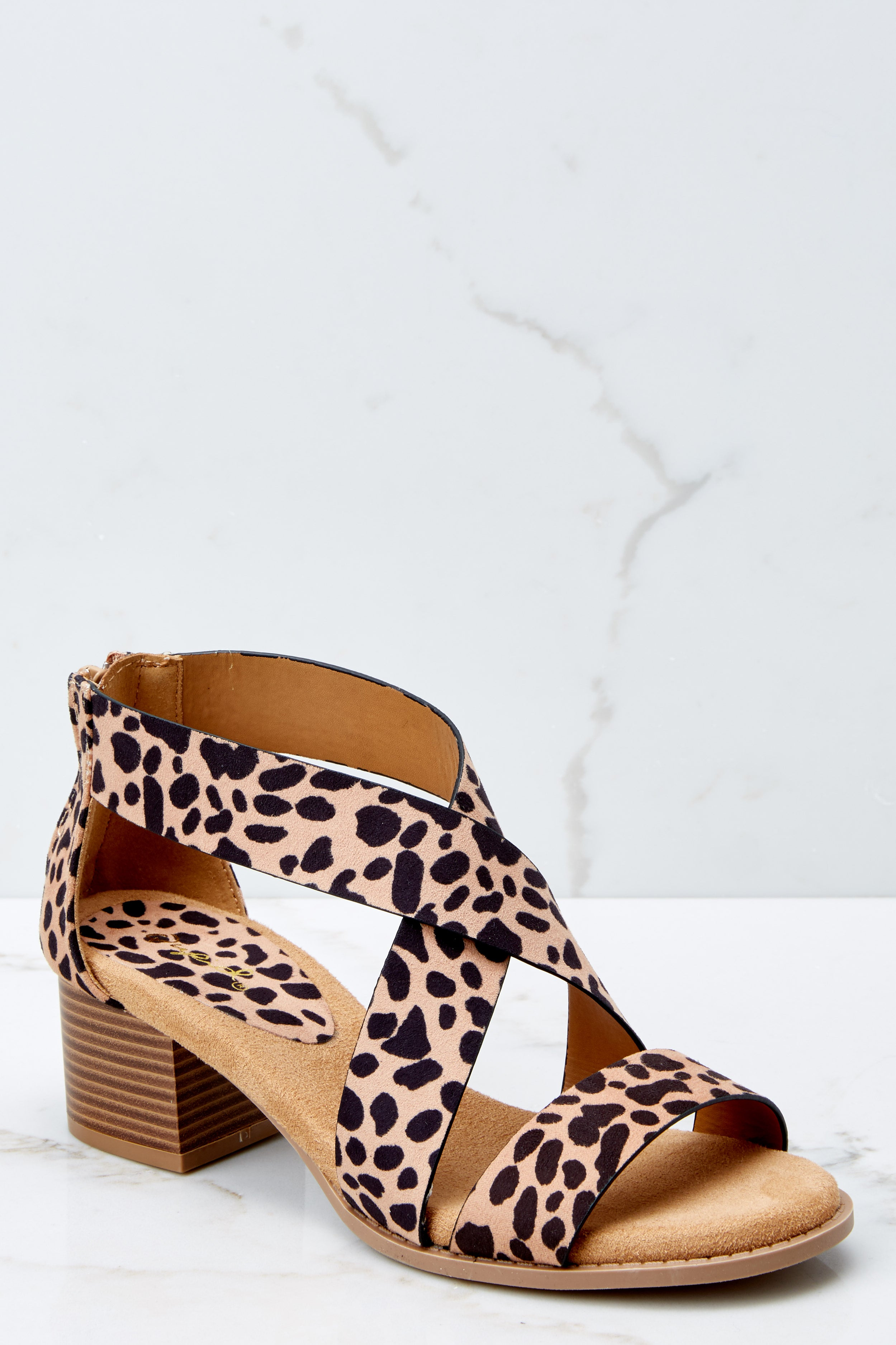 a902011a0d5 Trendy Leopard Print Heels - Strappy High Heel Sandals - Shoes - $32 ...