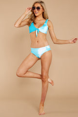 1 Ocean Ties Aruba Blue Bikini Top at reddressbboutique.com