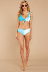 2 Ocean Ties Aruba Blue Bikini Top at reddressbboutique.com