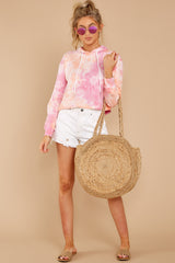 2 Santa Monica Beach Pink Knit Pullover at reddressboutique.com