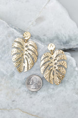 3 No Stress Gold Leaf Earrings at reddress.com