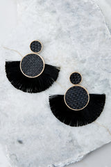 2 More Than One Black Statement Earrings at reddressboutique.com