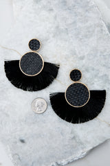 3 More Than One Black Statement Earrings at reddressboutique.com