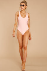 2 Feeling Salty Sweet Pink Eyelet One Piece at reddressboutique.com