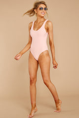 3 Feeling Salty Sweet Pink Eyelet One Piece at reddressboutique.com