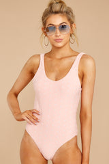 4 Feeling Salty Sweet Pink Eyelet One Piece at reddressboutique.com
