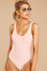 5 Feeling Salty Sweet Pink Eyelet One Piece at reddressboutique.com