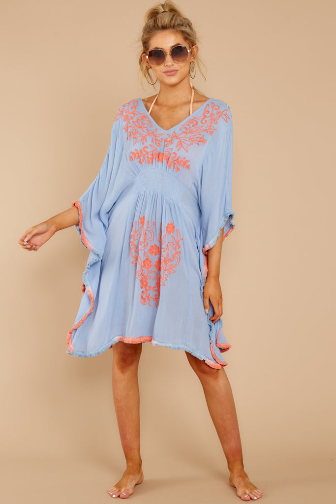d508dc033a73b Boat Rocking Powder Blue Embroidered Cover Up