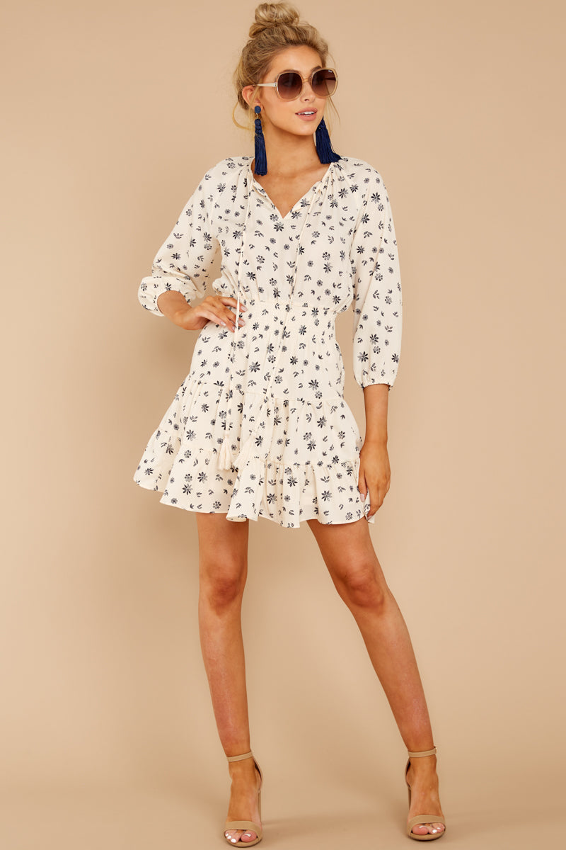 1 Harbor Lights Ivory Print Dress at reddressboutique.com