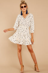 2 Harbor Lights Ivory Print Dress at reddressboutique.com