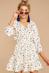 5 Harbor Lights Ivory Print Dress at reddressboutique.com