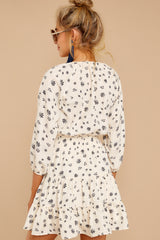 7 Harbor Lights Ivory Print Dress at reddressboutique.com
