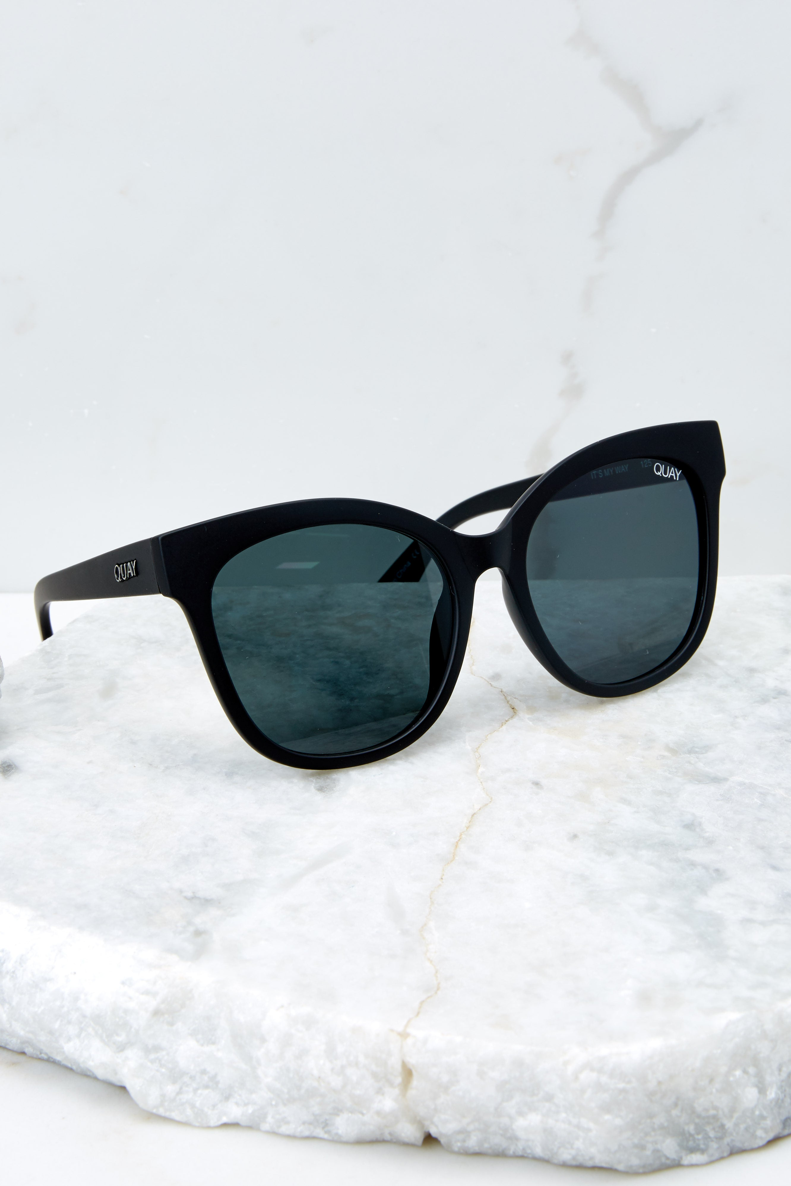 63576363e8 Quay It s My Way Sunglasses - Oversized Black Sunnies - Glasses ...