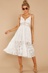 1 Hey Sister White Lace Midi Dress at reddressboutique.com