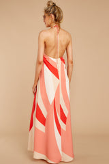 Laugh It Off Red Print Maxi Dress