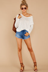 1 A Night In Ivory Knit Top at reddressboutique.com