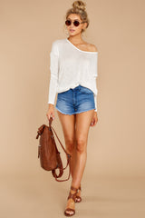 2 A Night In Ivory Knit Top at reddressboutique.com