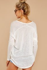 9 A Night In Ivory Knit Top at reddressboutique.com