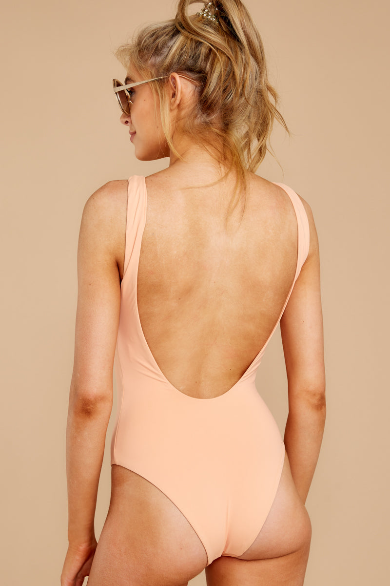 Feeling Salty Peach One Piece