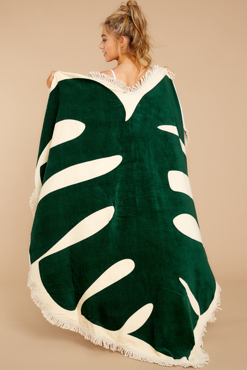 1 All Around Giant Towel In Monstera at reddressboutique.com