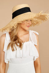 1 Bite Of Life Beige Wide Brim Hat at reddress.com