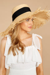 2 Bite Of Life Beige Wide Brim Hat at reddress.com