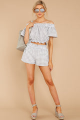 2 The Last Second Grey Gingham Two Piece Set at reddressboutique.com