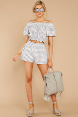 4 The Last Second Grey Gingham Two Piece Set at reddressboutique.com