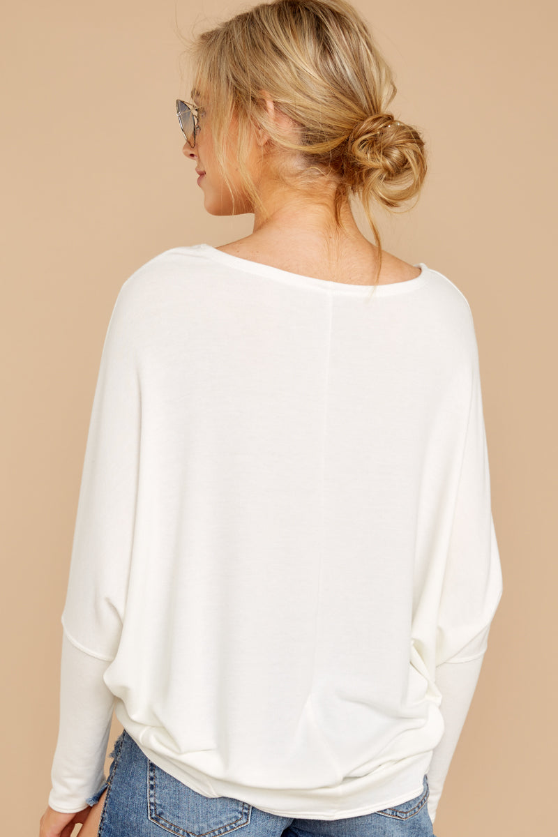 7 Take The Long Road White Top at reddressboutique.com