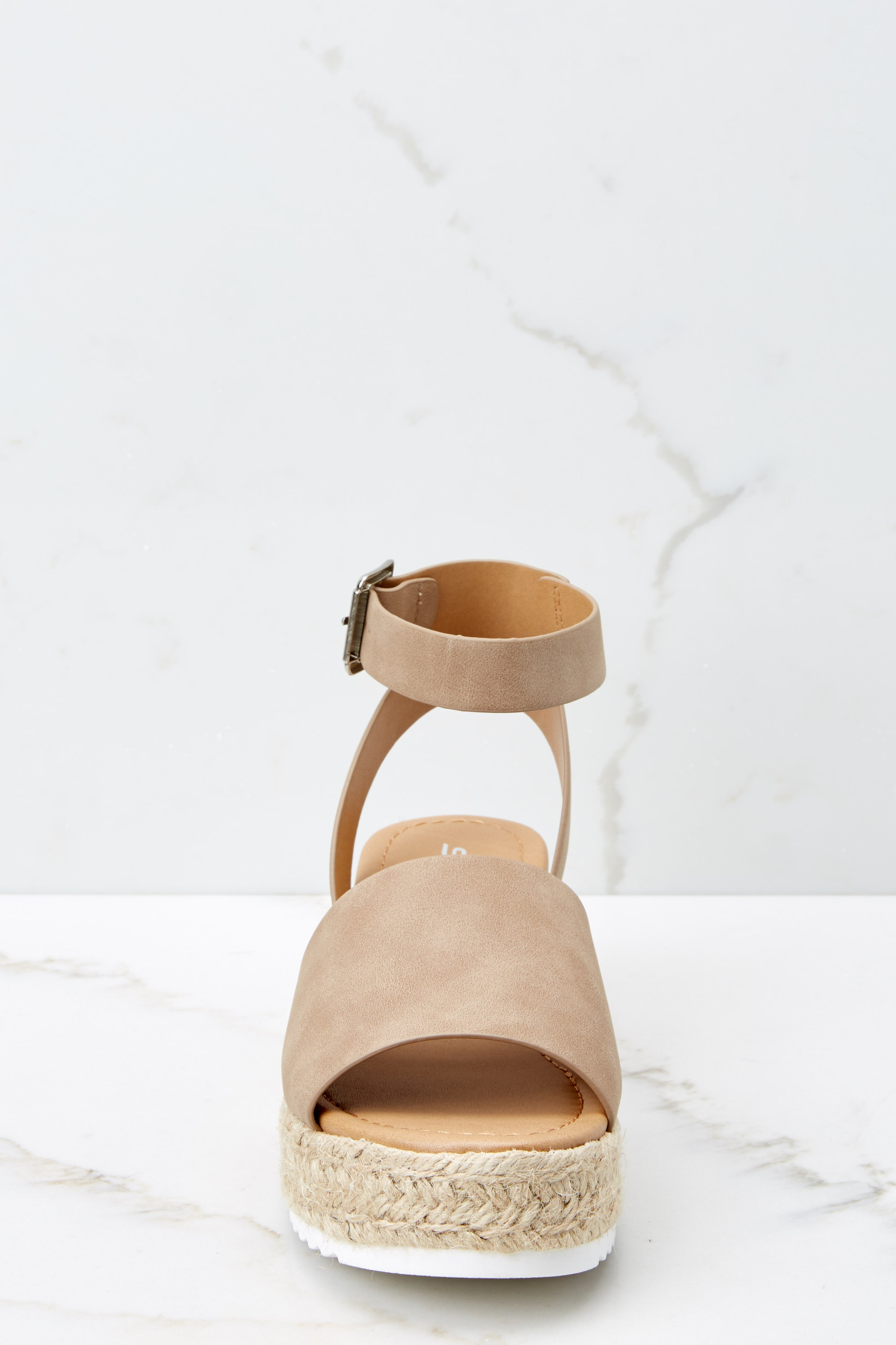 2 Know The Way To You Natural Flatform Sandals at reddress.com
