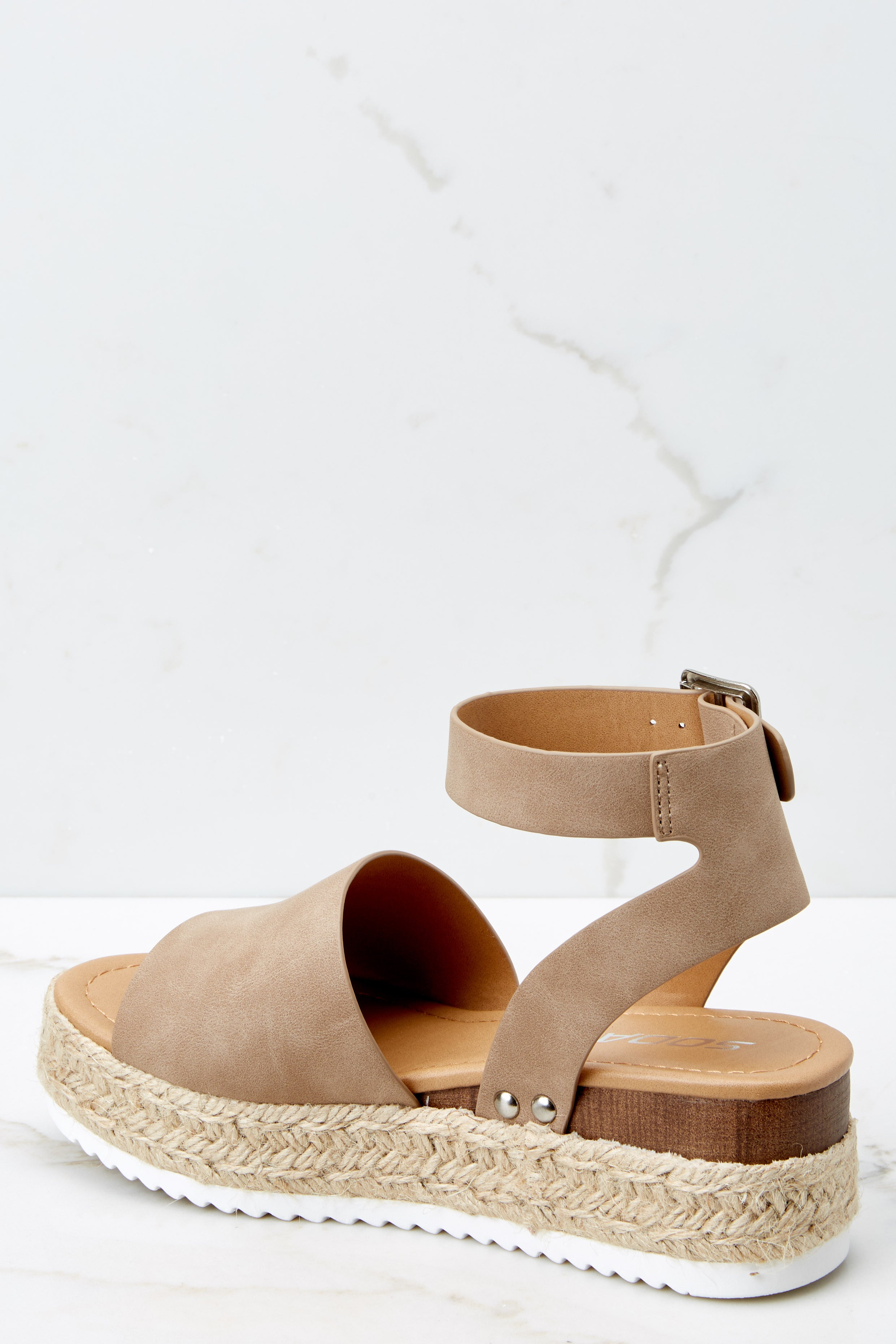 3 Know The Way To You Natural Flatform Sandals at reddress.com