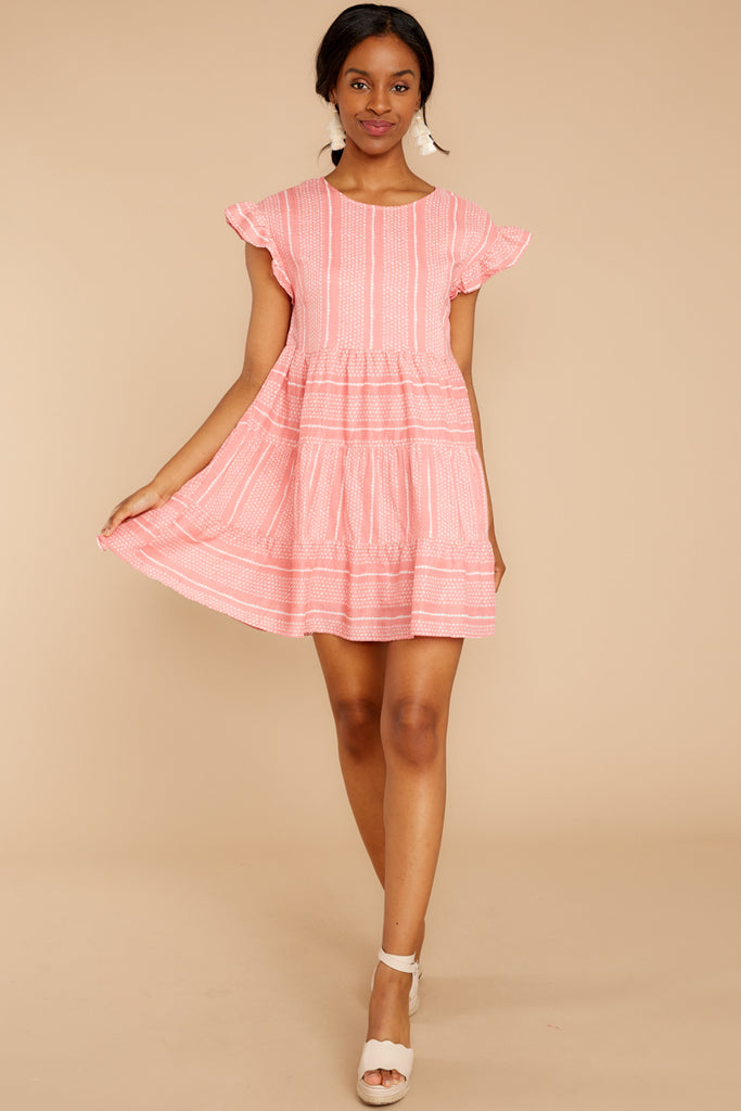 6faba75d3a6 Sunday Chic Coral Pink Print Dress