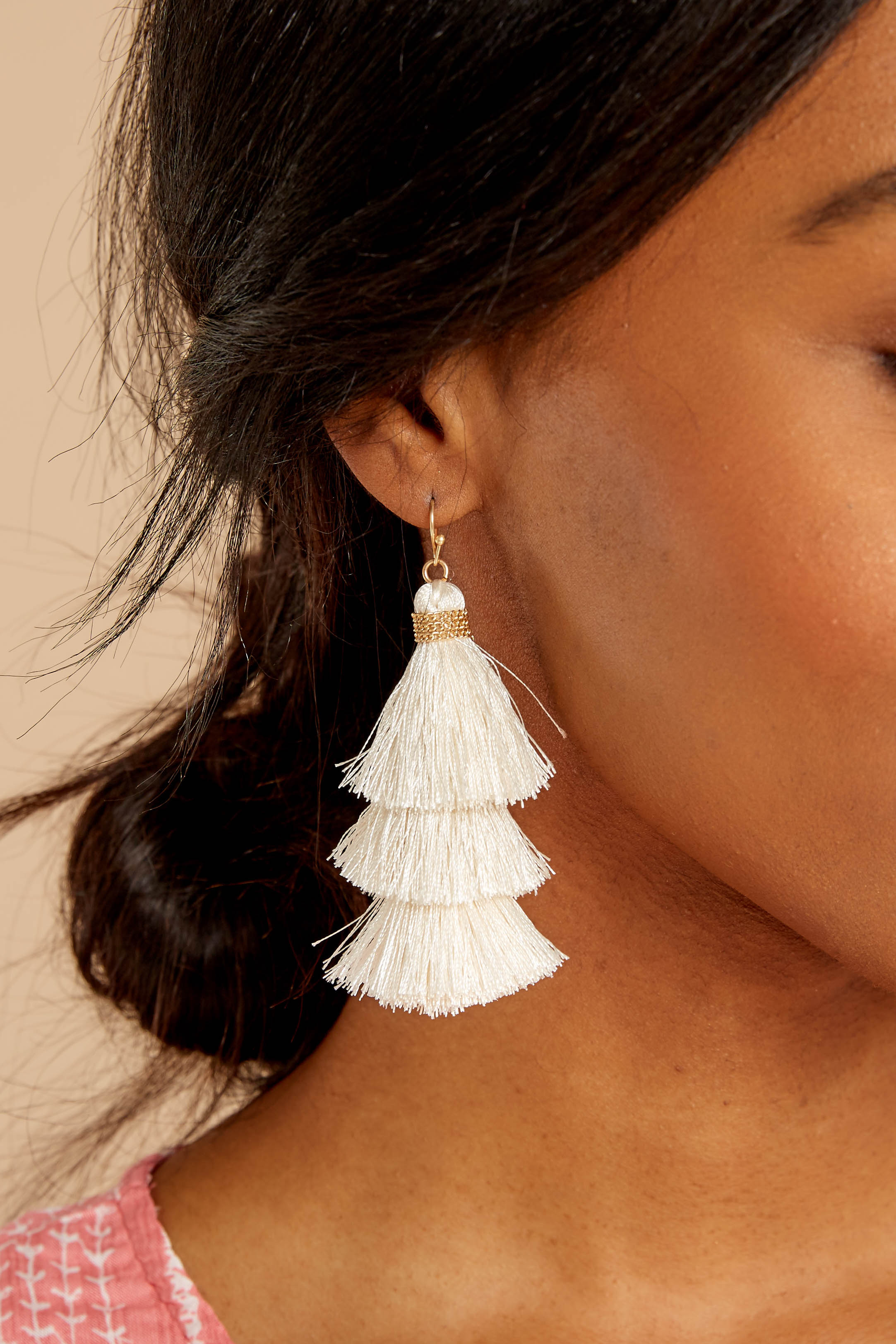 The Last Moment Ivory Tassel Earrings