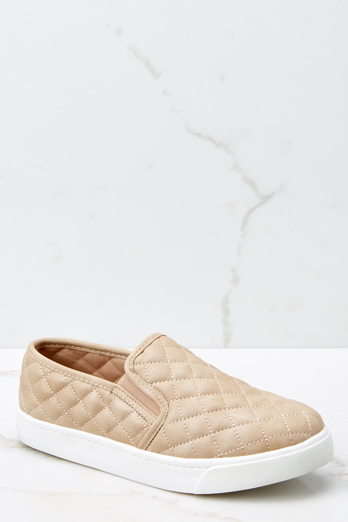 Think First Beige Espadrille Platform Sneakers